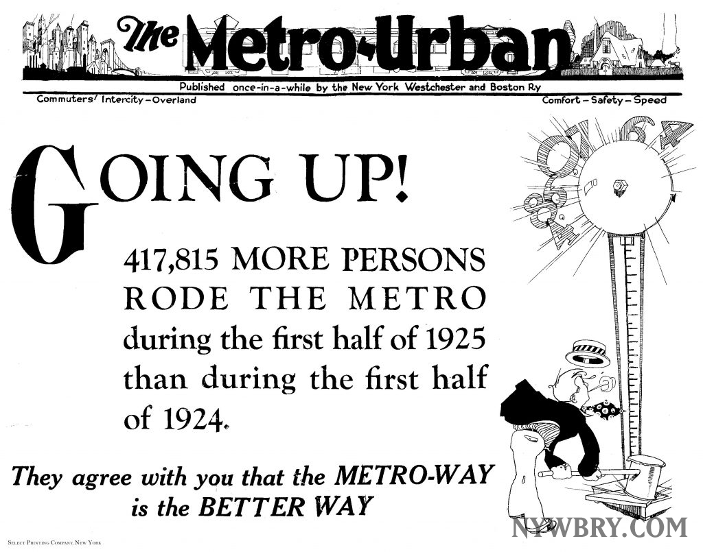 NYW&B Metro-Urban Poster 1925